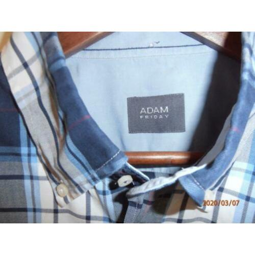 ADAM shirt blauwtinten. Regular Fit. Maat XL