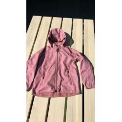 Pompdelux soft Shell jas, oud roze, maat 128